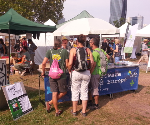 FSFE Information stall at Veganmania Summer Festival 2019