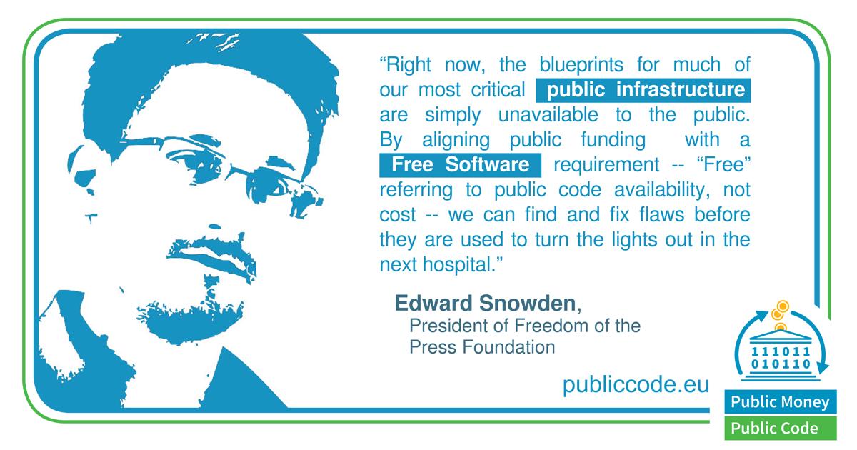 Eward Snowden on publiccode.eu