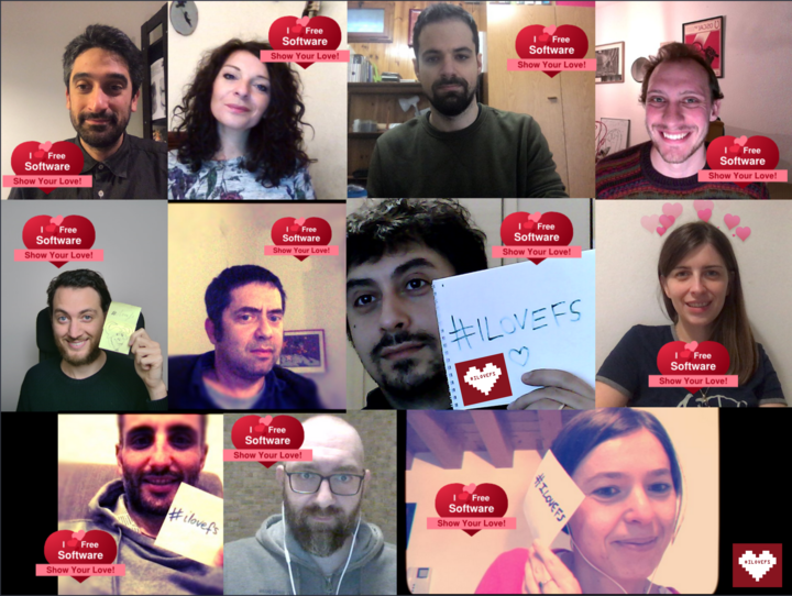 Developers Italia celebrating I Love Free Software Day, together