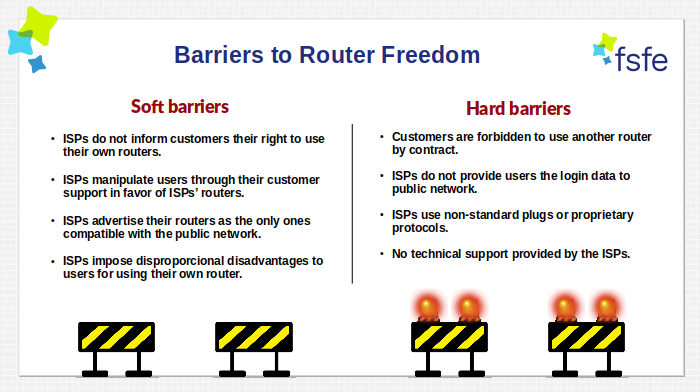 Barriers to Router Freedom