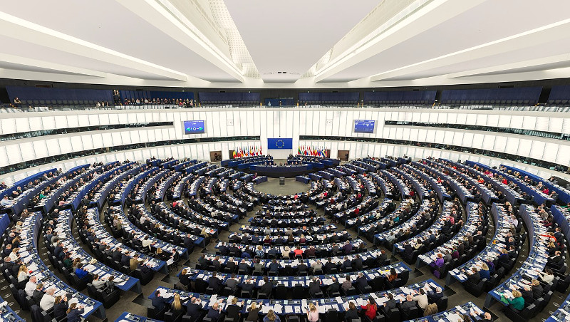 The Parliament's hemicycle (debating chamber) during a plenary session in Strasbourg