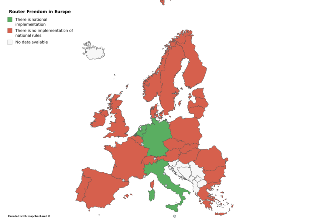 Router Freedom in Europe