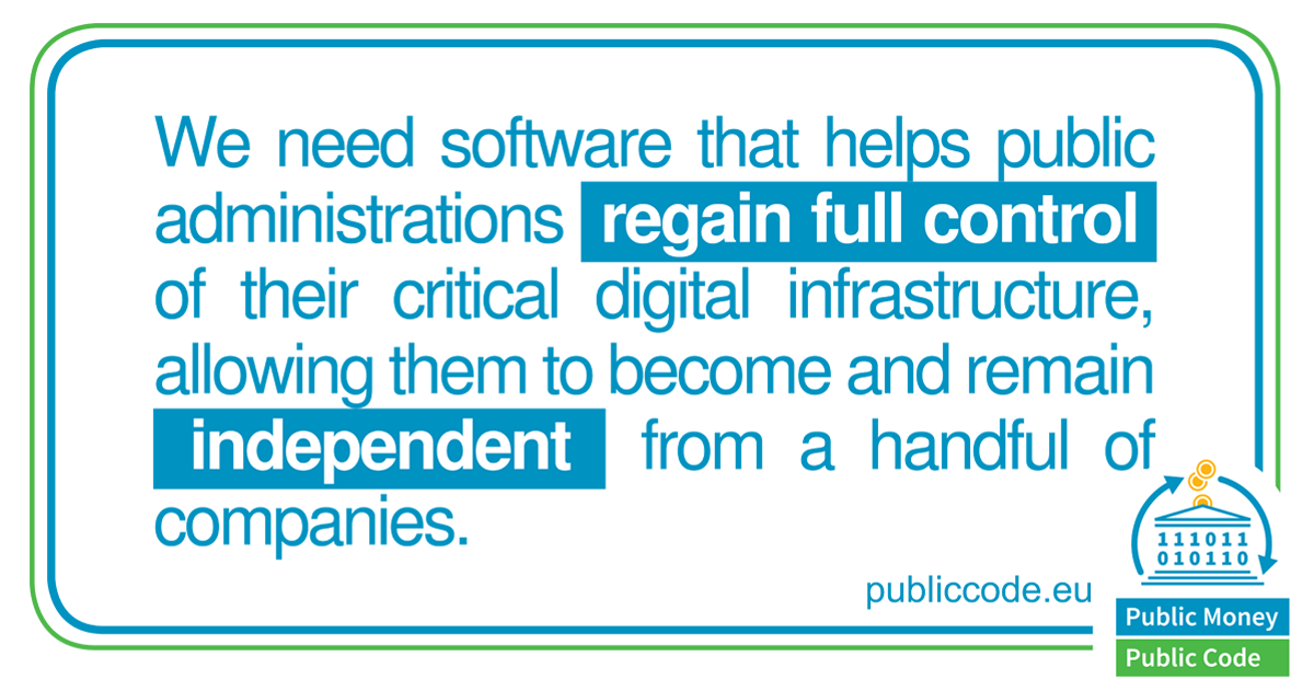 Public Money Public Code - quote