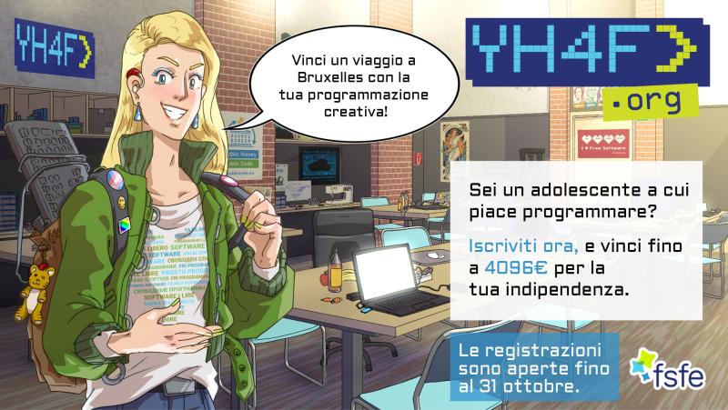 Una ragazza in uno spazio hacker