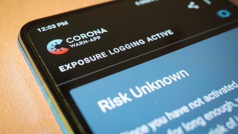 Screenshot van Corona Waarschuwings-App