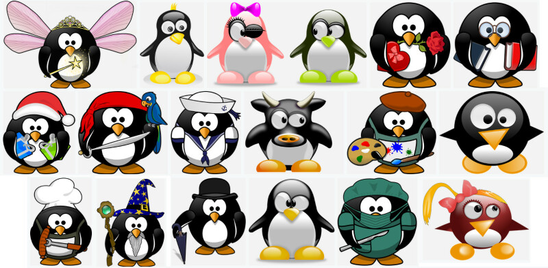 a picture showing diverse tux