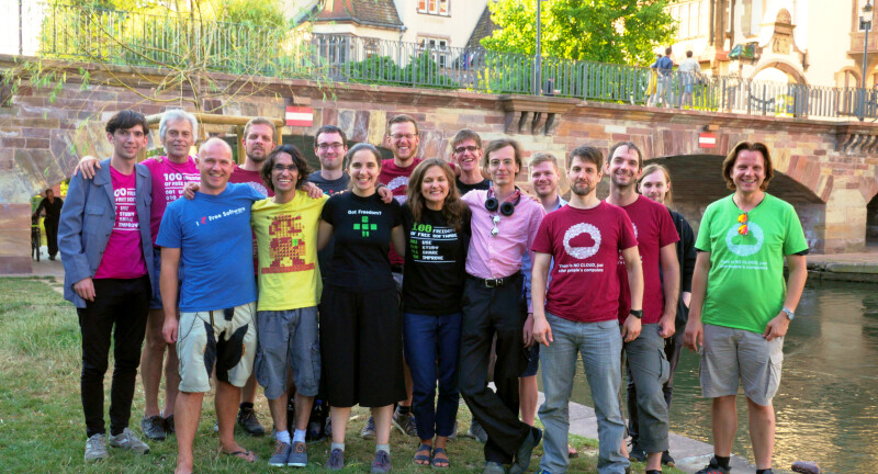 FSFE supporters at the community meeting 2018 in Strasbourg.