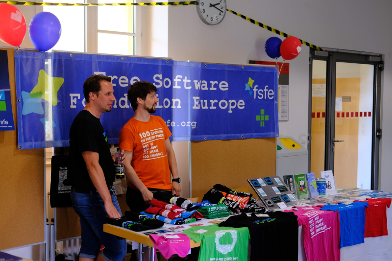 The FSFE also had a stand at Tubix