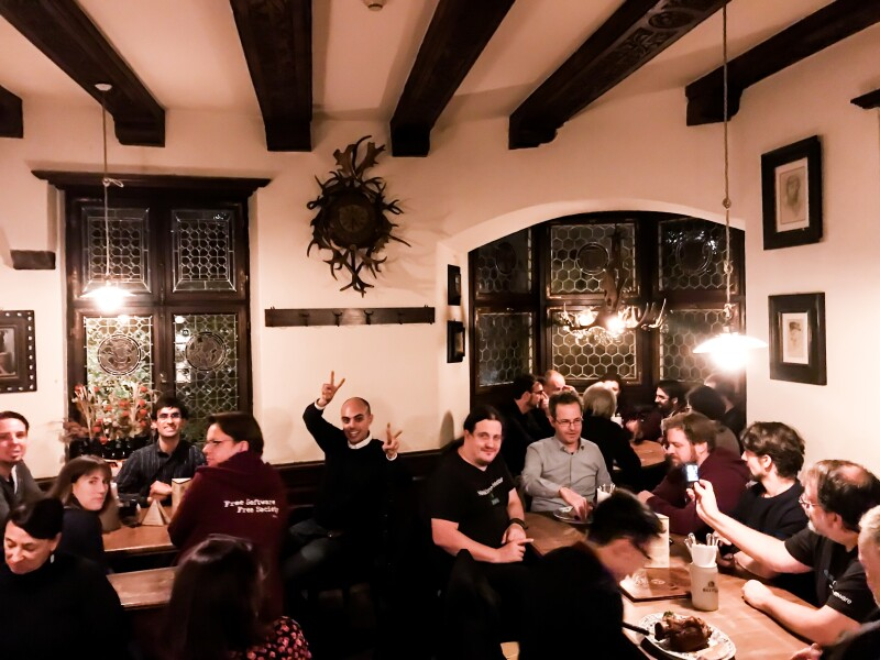 The FSFE Community Meeting dinner