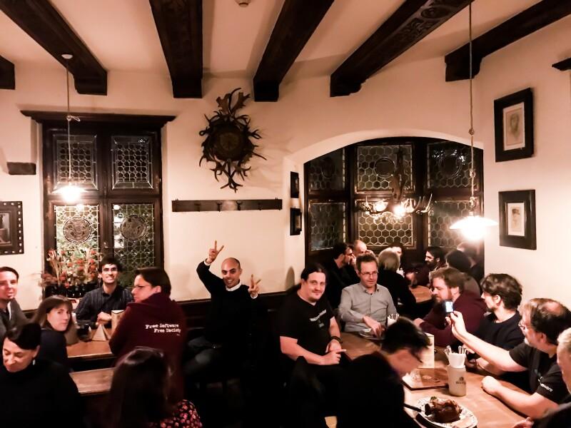 The FSFE Community Meeting dinner