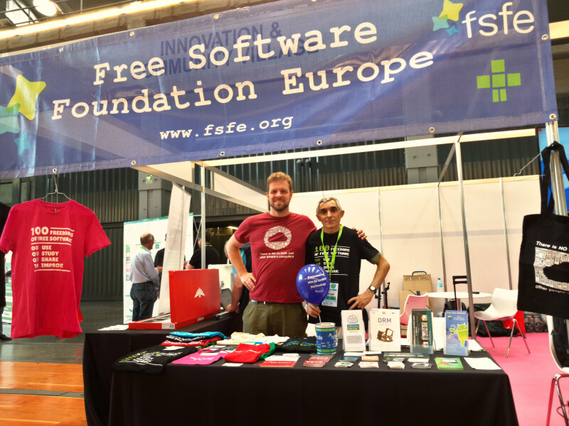 Erik Albers and Pablo González Otero at the OpenExpo in Madrid