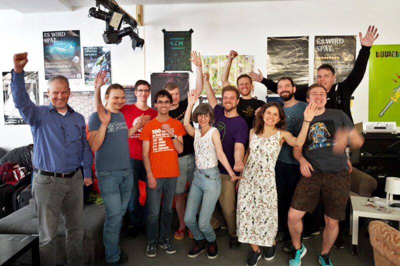 Some of the people behind fixing the FSFE's website during the 2nd web-a-thon for the year