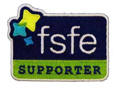 FSFE Supporter patch