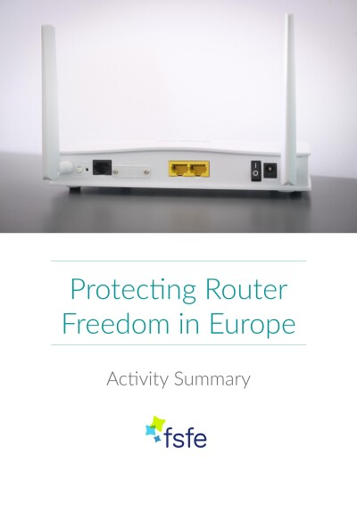 Router Freedom    Activity Summary