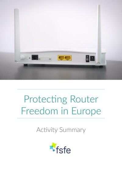 Router Vrijheid    Samenvatting van de Activiteit